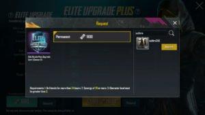 PUBG Mobile elite pass request